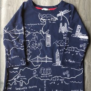 BODEN Map Print Sweater